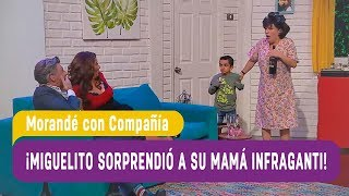 ¡Miguelito sorprendió a su mamá infraganti! - Morandé con Compañía 2018