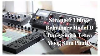Stranger Things Theme Inspired - Behringer Model D, Moog Slim Phatty, DSI Tetra, Ableton Push