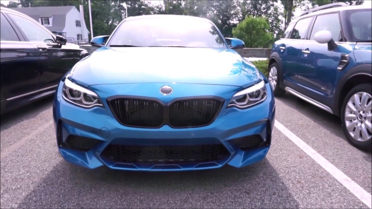 2019 Bmw M2 Competition Long Beach Blue Youtube