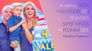 FESTA DE ANIVERSÁRIO DO ALEXANDRE!!! SUPER WINGS E PJ MASKS | ANA HICKMANN