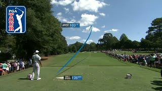Tiger Woods' shot trails from 2018 TOUR Championship
