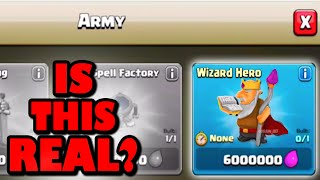 Clash of Clans - NEW UPDATE HERO REVEALED? The Wizard King + Town Hall 9 Champion Raids!