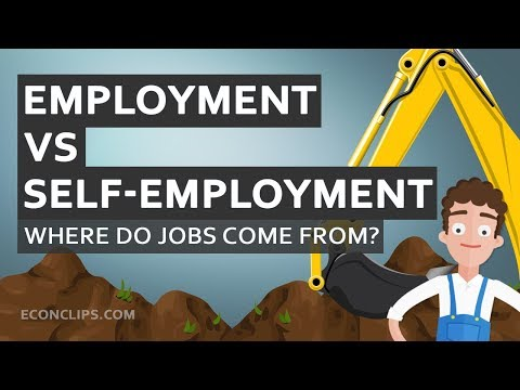 👨‍💼 Where do jobs come from? | Employment vs self-employment