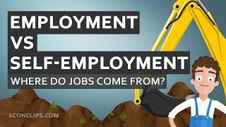 👨💼 Where do j๐bs come from? | Employment vs self-employment