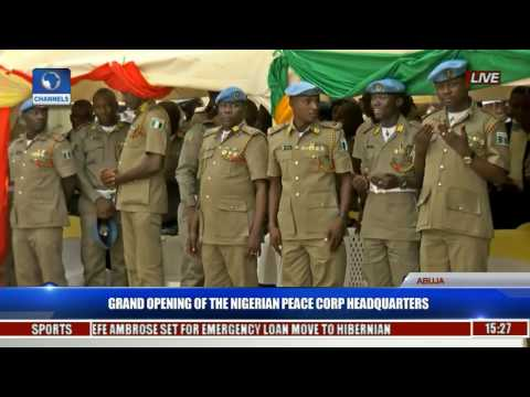 Grand Opening Of The Nigerian Peace Corp Headquarters Pt. 1
