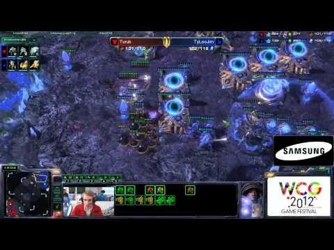 WCG 2012 GF StarCraft 2 с Майкером 1/2 часть