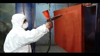 Порошковая покраска двери(60-е годы ХХ века считаются рождением порошковой покраски. В это же время был разработан и применен электрос..., 2016-02-08T09:52:54.000Z)