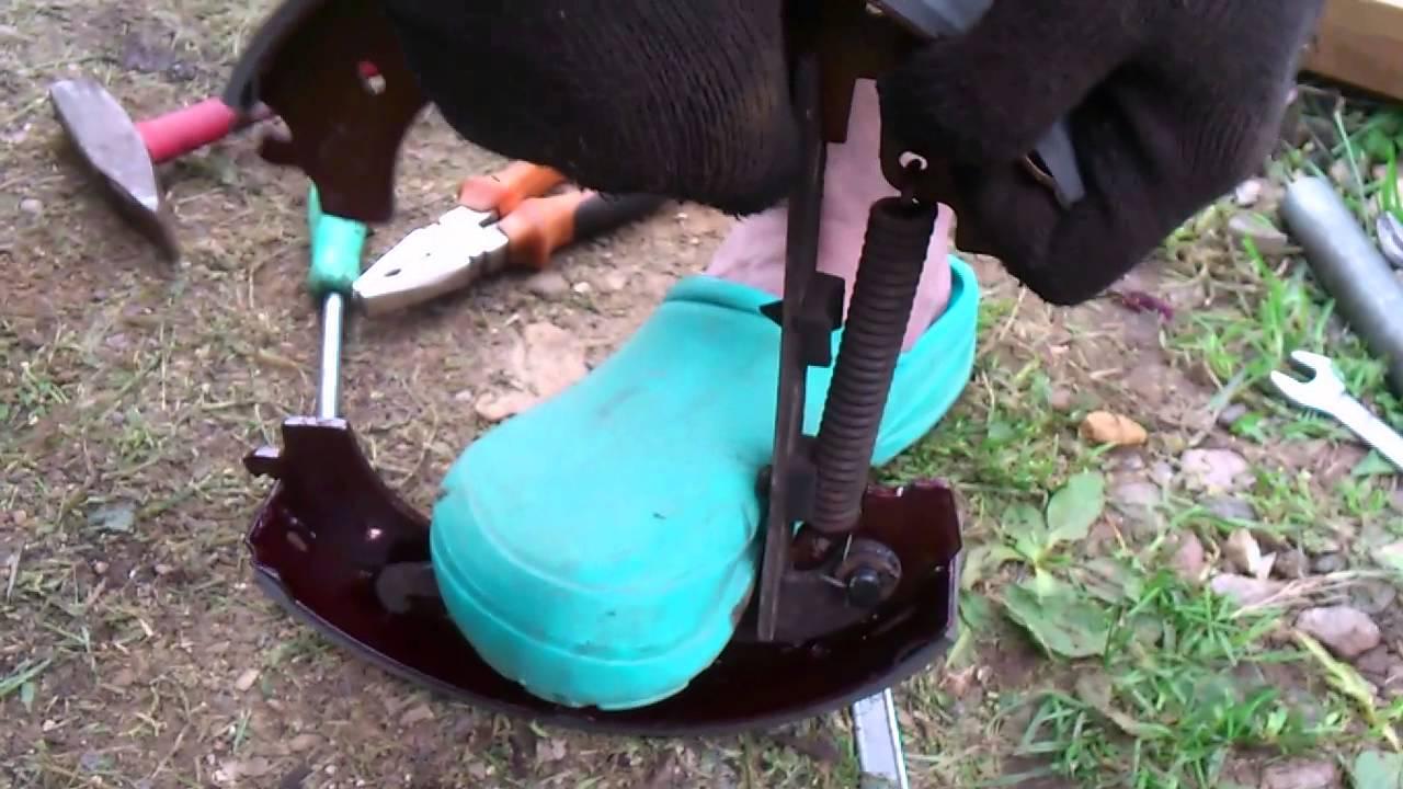 Замена тормозных колодок Шнива (взведение пружины)