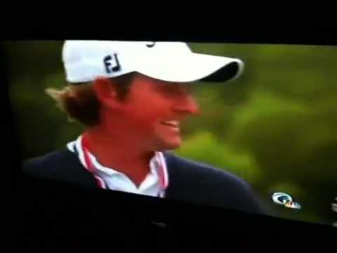 2012 US Open Crazy fan disrupts Webb Simpson Interview