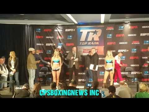 Weigh-in Vladimir Nikitin vs Juan Tapia