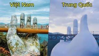 Cầu VÀNG của Việt Nam đã bị Trung Quốc SAO CHÉP và hàng loạt những công trình khác của Thế Giới