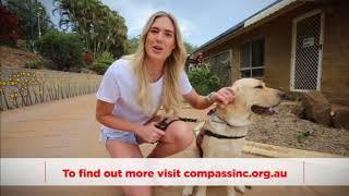 Caitlin Bassett Compass Assistance Dogs Ambassador