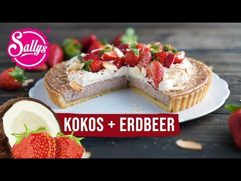 Kokos Erdbeer Pie / Coconut Strawberry Pie/ Sallys Welt