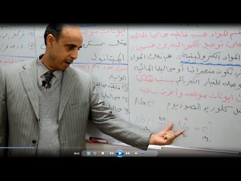 دروس الكيمياء : الفصل الثالث /الاتزان الايوني/ج/1كيمياء السادس/الاستاذ محمد محروس