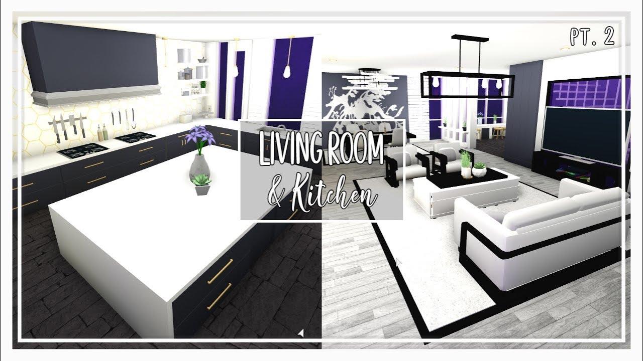 Bloxburg || Living Room & Kitchen Build (pt.2) - YouTube