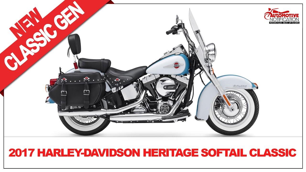 2017 Harley Davidson Heritage Softail Classic Price & Spec - YouTube