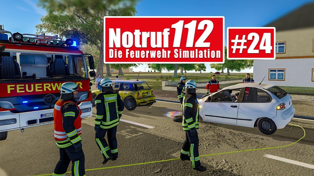 NOTRUF 112 #24: AUTOUNFALL! Verletzte Person mit Sanitätern bergen ...