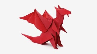 Repeat youtube video Origami Dragon (Jo Nakashima) -Dragon #6