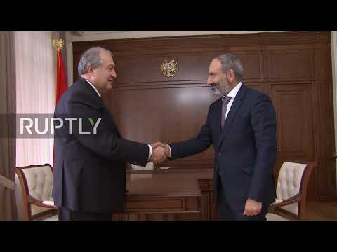 Armenia: Pashinyan meets President Sarkissian after being elected PM