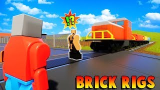 SAVING DOB FROM THE LEGO CITY TRAIN?! - Brick Rigs Gameplay Roleplay - Lego Train Fun!