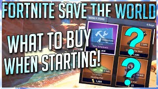 FORTNITE STW: ITEM SHOP BEGINNERS GUIDE | WHAT TO BUY WHEN STARTING IN SAVE THE WORLD!
