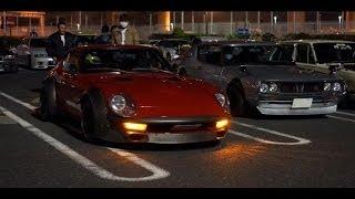 ~イイ排気音~ケンメリ・240Zなど旧車が大黒PAに勢揃い!Japanese old cars thumbnail