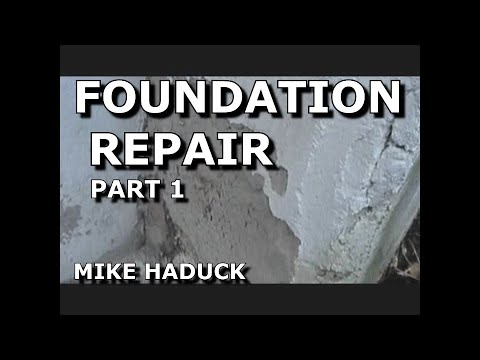 How I Patch Or Fix Up A Foundation Part 1 Of 7 Mike