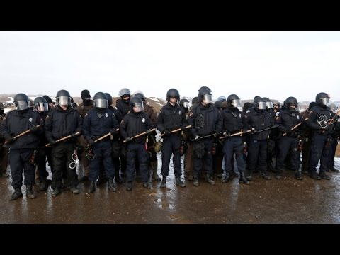 Oil Police BRUTALIZE Water Protector Who Questioned Them