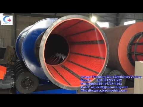 big capacity diamond rotary scrubber