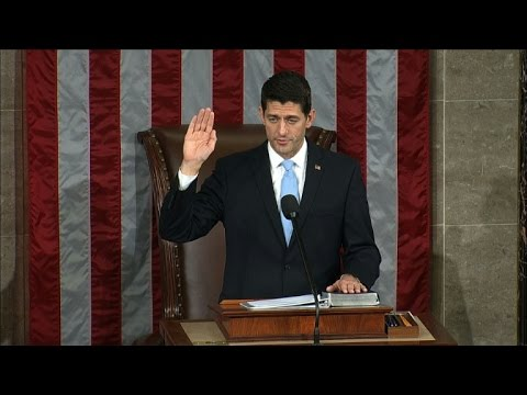Republican Paul Ryan sworn in as US Speaker of the House