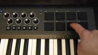 Отримувати правильний звук на М-аудіо аксіом 49 або 61 (Мкіі) колодки