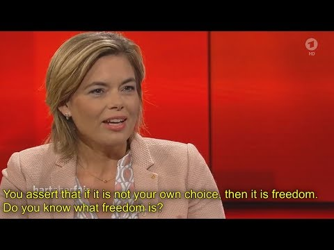 [English subtitles] Should Germany ban the burka? (part 2) do you know what freedom is?