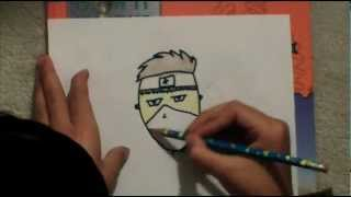 How To Draw a Ninja Cartono Face