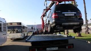 Эвакуатор грузит , эвакуирует автомобиль. Работает эвакуатор Сочи 2014г. Формула 1(, 2014-11-04T15:57:40.000Z)