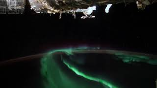 Auroras Dance Below Space Station in New Time-Lapse Video