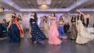 MAKHNA & DILBAR GIRLS BOLLYWOOD DANCE | Sangeet Choreography | Nora Fatehi | SHRUTI & SHWETA DIXIT