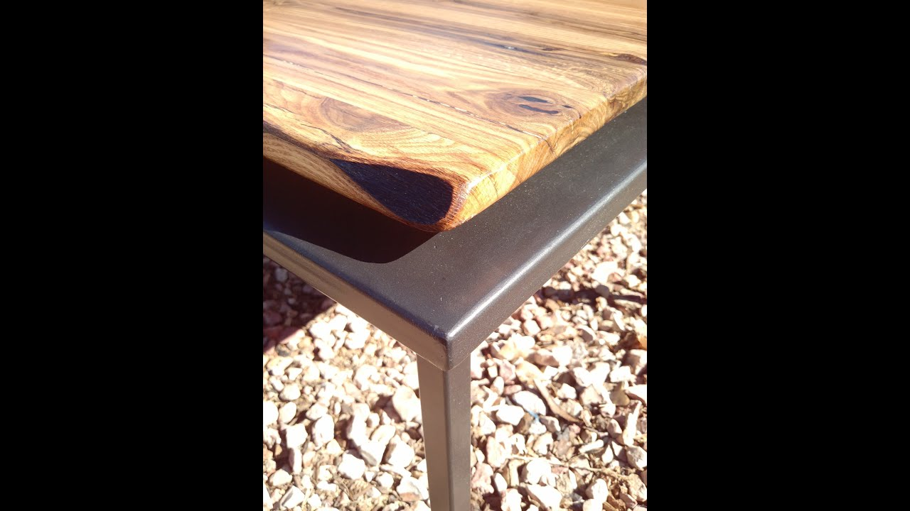 Make A Modern Rustic Table Top By Mitchell Dillman   YouTube