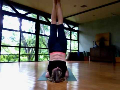 how to yoga shoulder stand into lotus  youtube