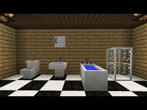 Mrcrayfish 39 s furniture mod update 20 bath and wall for Bathroom designs minecraft