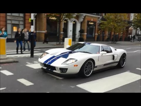 White And Blue Ford Gt In London