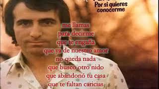 Jose Luis Perales Me Llamas (letra)