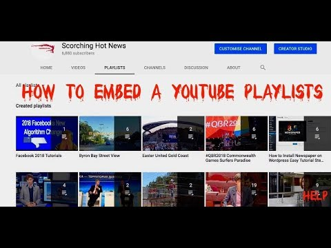 How to Share a YouTube Video Playlist on a Website updated 1July 2018