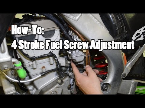 How-To: 4 Stroke MX Fuel Screw Adjustment YZF CRF KXF RMZ FCR Part 2 of 2