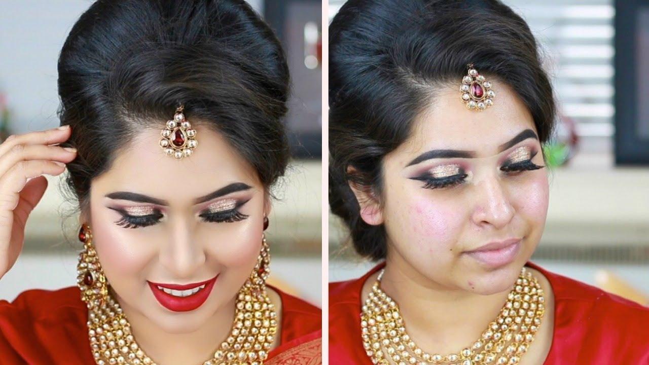 Wedding Guest Makeup Tutorial | Bangladeshi Indian Wedding Reception Party Makeup - YouTube