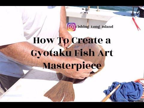 Fish Art , How To Create JAPANESE GYOTAKU Fish Art