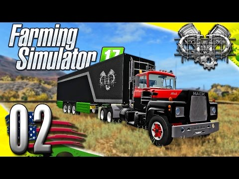 Farming Simulator 2017 Gameplay :EP2: 1977 Mack R600 & Gold Nugget! (PC HD American Outback)