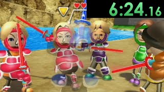 I decided to speedrun the extermination of all Miis in Wii Sports Resort