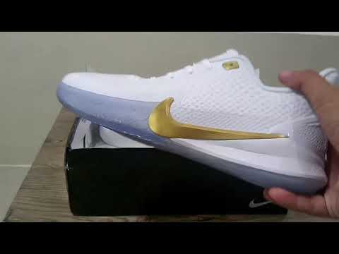 Kobe Mamba Focus White/Gold UNBOXED   REVIEW