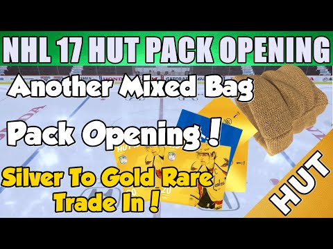 Another Mixed Bag Pack Opening!  - NHL 17 HUT - Hockey Ultimate Team - Silver To Gold Rare Trade In!
