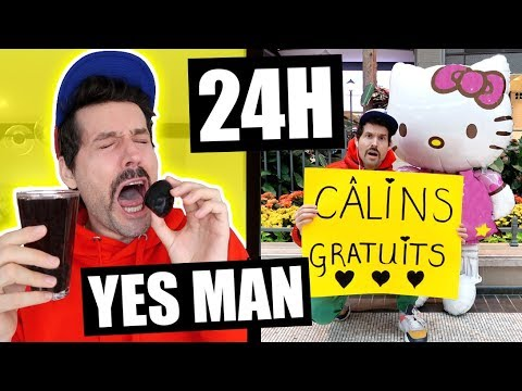 HUBY DIT OUI À TOUT PENDANT 24H - YES MAN CHALLENGE